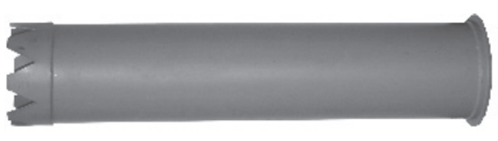 """Picture of 12"""" Steel Catch Basin Tube (dig tube)"""