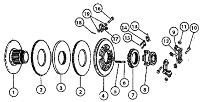 Picture of Dual Stage Transmission Clutch - Parts