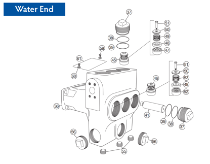 Picture of DP80-20 - Water End - Replacement Parts