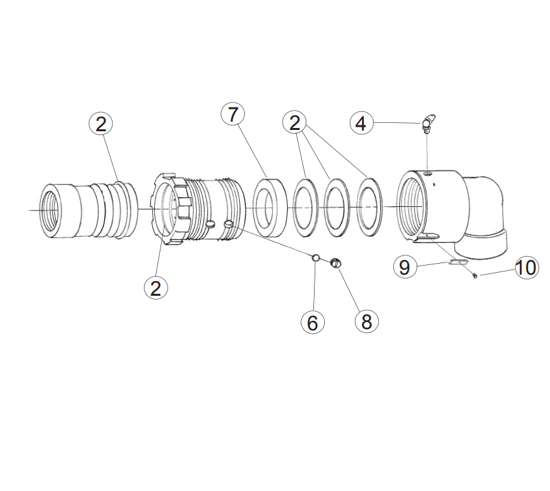 Picture of TM® Style 90° Swivel - Parts
