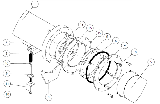 Picture of Vactor® Style  2100+ Telescopic Tube Installation - U62037 - Parts